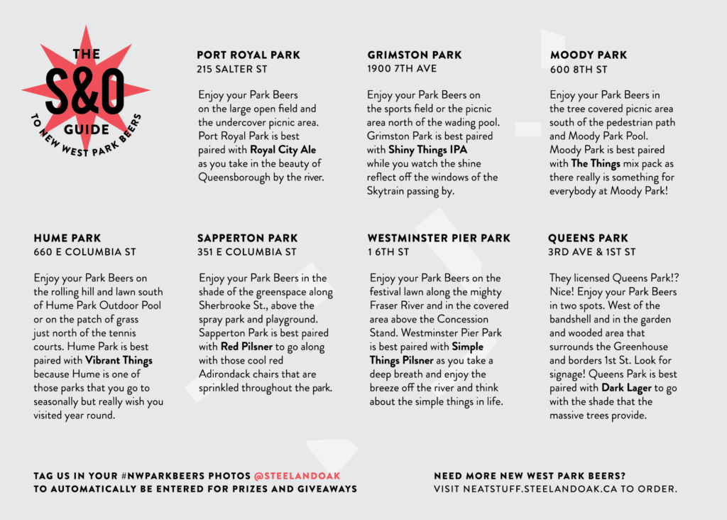 Licensed Parks in New West Beer Pairing Guide